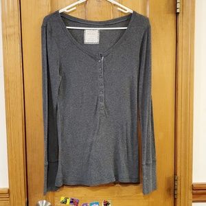 Old Navy Gray Long Sleeve T-Shirt Large